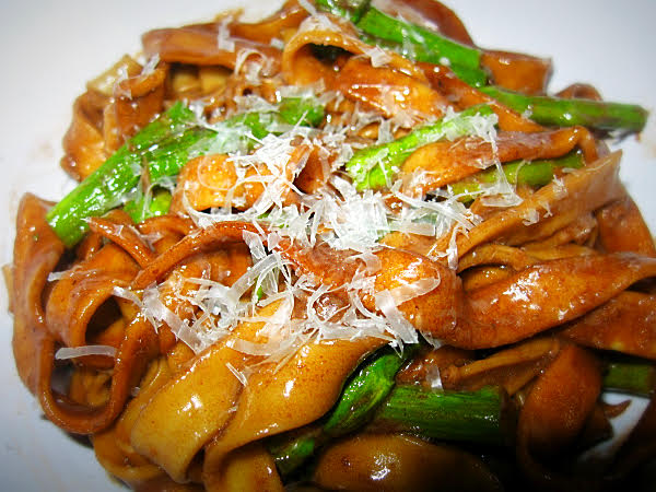 p. penne with roasted asparagus